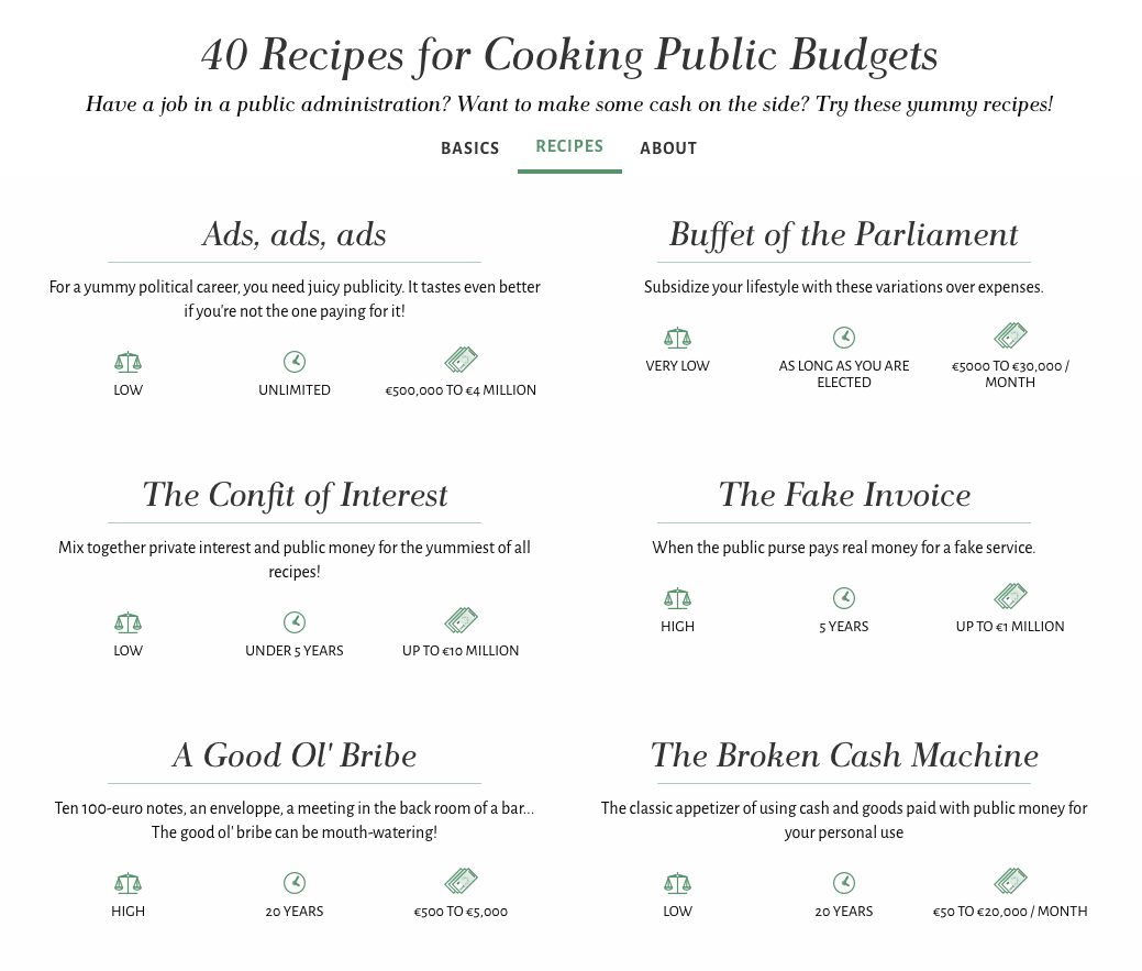 Screenshot of cookingbudgets.com